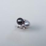 anello contrarie perle